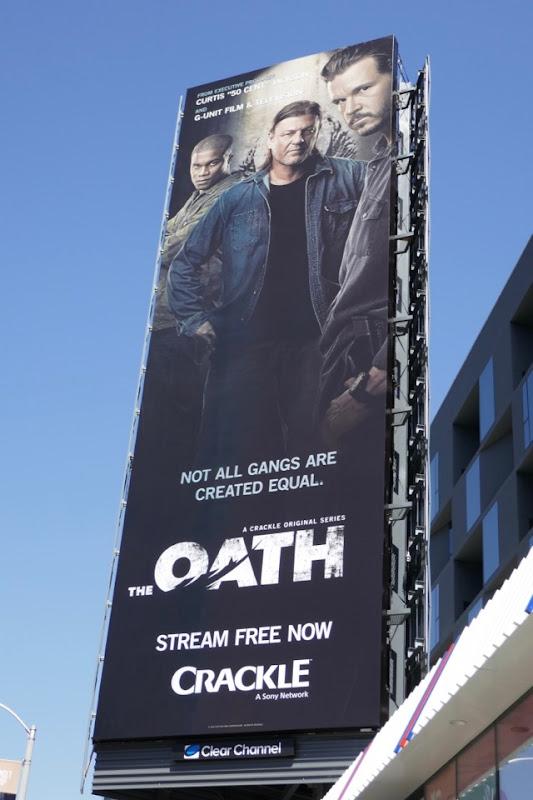 The Oath series launch billboard