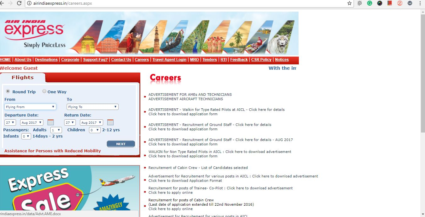 Recruitment of Experienced Aircraft Technician and Skilled Trade\'s ...