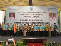 Kabupaten Way Kanan Terima Penghargaan STMB sekaligus Deklarasikan ODF