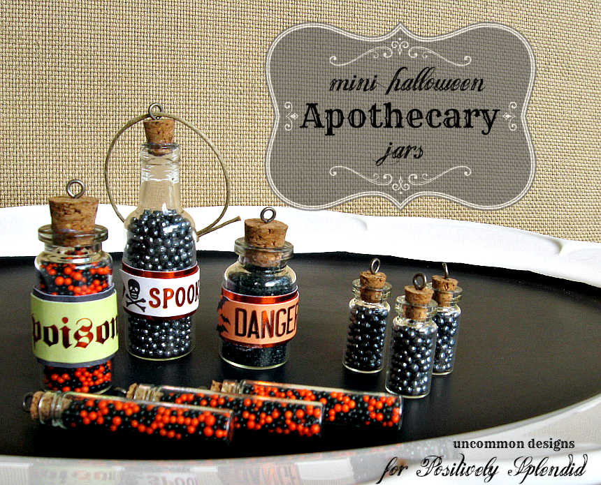 Mini Halloween Apothecary Jars Positively Splendid Crafts Sewing Recipes And Home Decor