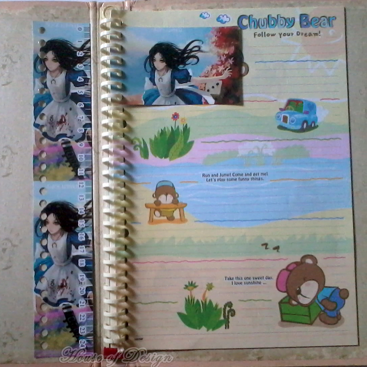 RULER DIVIDER BINDER CUSTOM, PENGGARIS BINDER CUSTOM, PENGGARIS BINDER 26RING UKURAN B5, PENGGARIS BINDER PRINCESS
