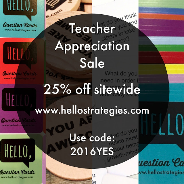 Teacher Appreciation Sale Hello Strategies