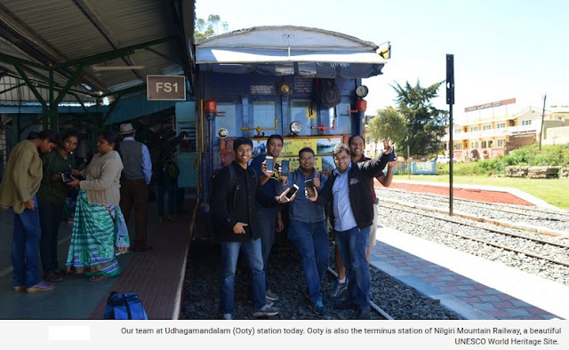 Tim Google Berada di Stasiun Udhagamandalam (Ooty) hari ini. Ooty merupakan stasiun terminus dari Nilgiri Mountain Railway, Situs Warisan Dunia UNESCO Yang Indah
