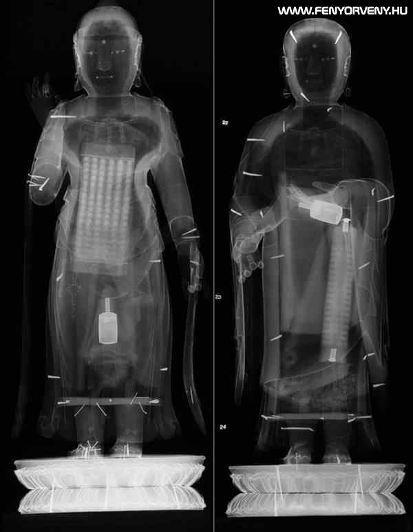 Titkos iratokat találtak egy Buddha-szobor belsejében