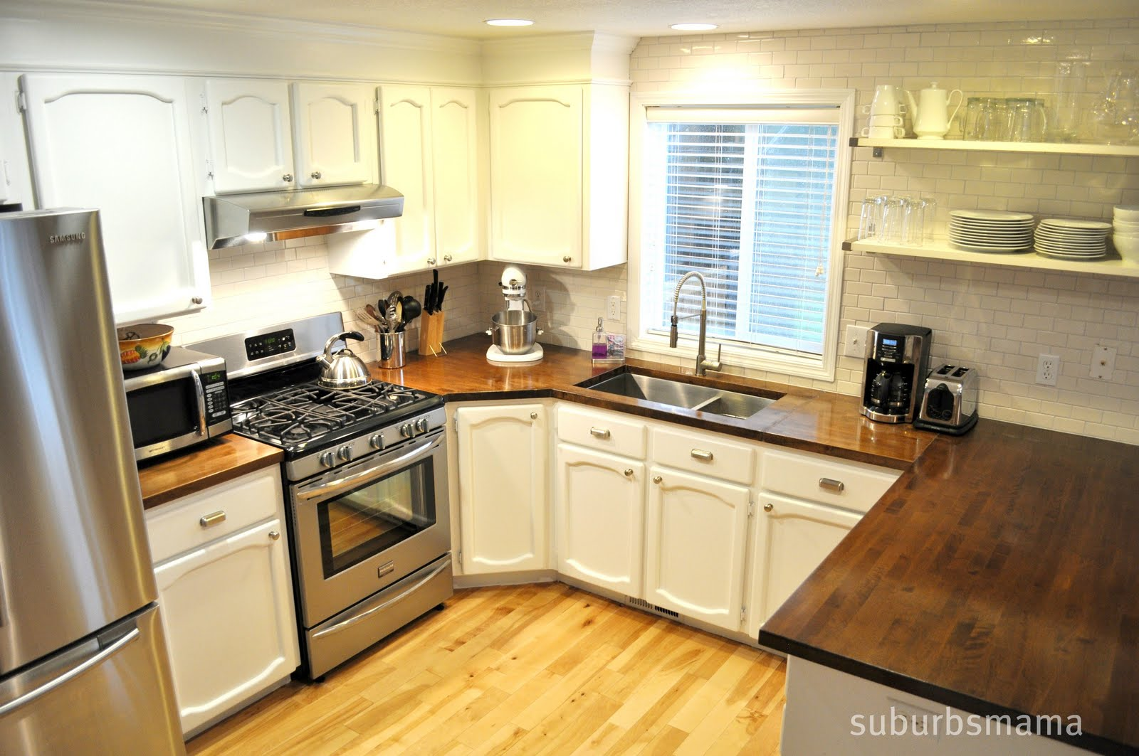 Wood Kitchen Counters Aid Mixer Covers Butcher Block Countertops Modern Diy Art Designs