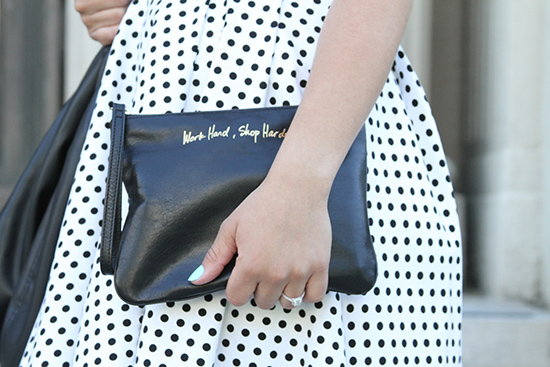 Rebecca Minkoff Work Hard, Shop Harder Clutch