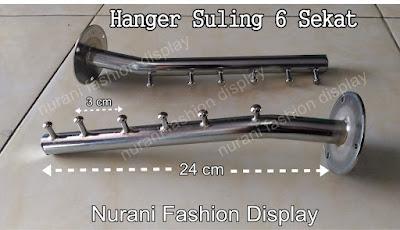 Display Hanger suling tempel tembok model 6 Sekat Gantunga