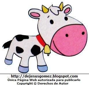 Dibujo de una vaca para niños. Dibujo de una vaca de Jesus Gómez