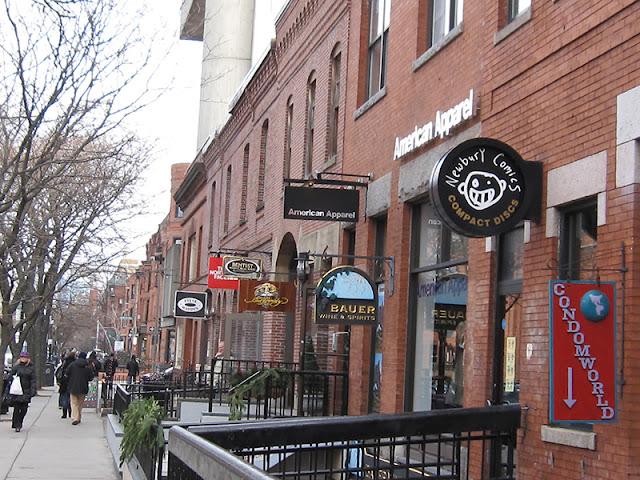 Ruas de Compras em Boston