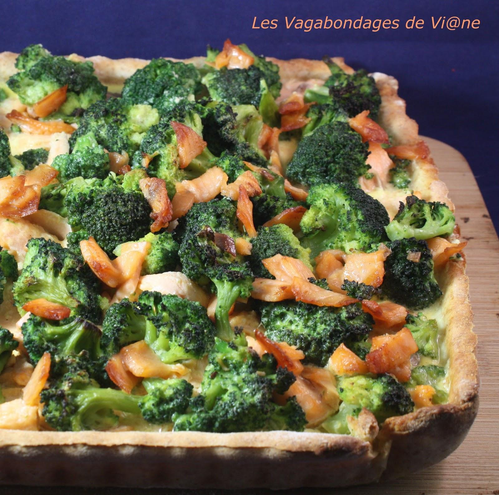 Les Vagabondages De Vi Ne Tarte Aux 2 Saumons Et Brocoli