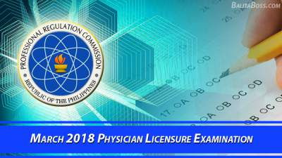 Physician March 2018 Board Exam