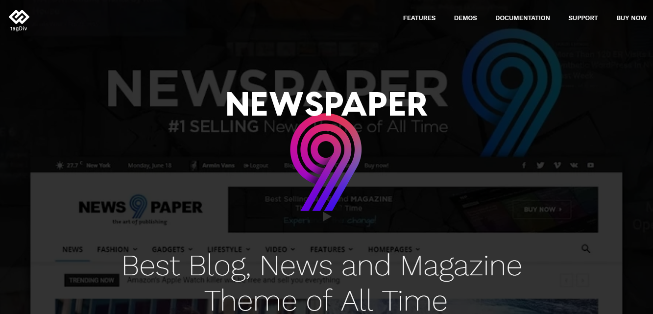 Get Newspaper Wordpress Theme v9.1 for free