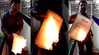 Proud Tamizhan burns his Limca world record for Jallikattu