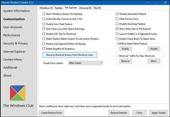 Ultimate-Windows-Tweaker