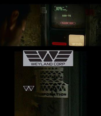 Logo Weyland en Blade Runner