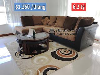 Tòa nhà The Manor quận Bình Thạnh bán hoặc cho thuê | sofa và bàn tròn phòng khách
