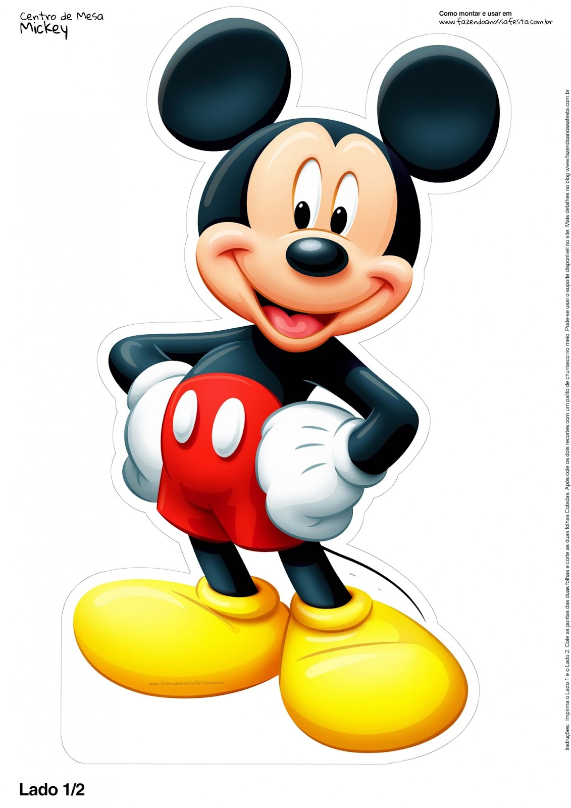 Mickey Mouse Free Printable Centerpieces - Oh My Fiesta