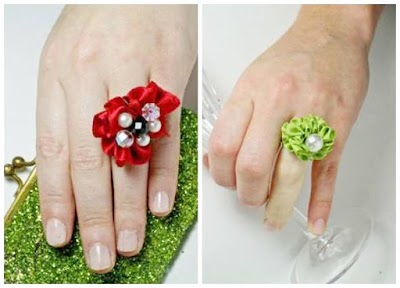 Como hacer anillos de cintas-ribbons