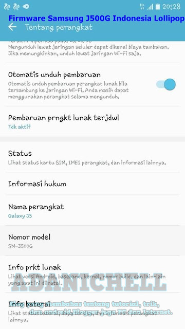 Firmware Samsung J500G Indonesia Lollipop