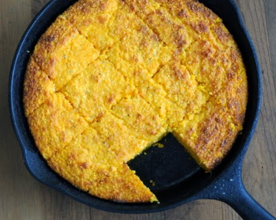 Sweet Potato Cornbread, cornbread made with sweet potatoes. No flour so naturally wheat-free and gluten-free. #BestRecipes of 2014 from #AVeggieVenture. For Weight Watchers, #PP7.