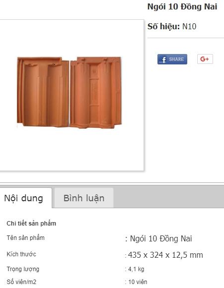Ngói 10 Đồng Nai giá tốt