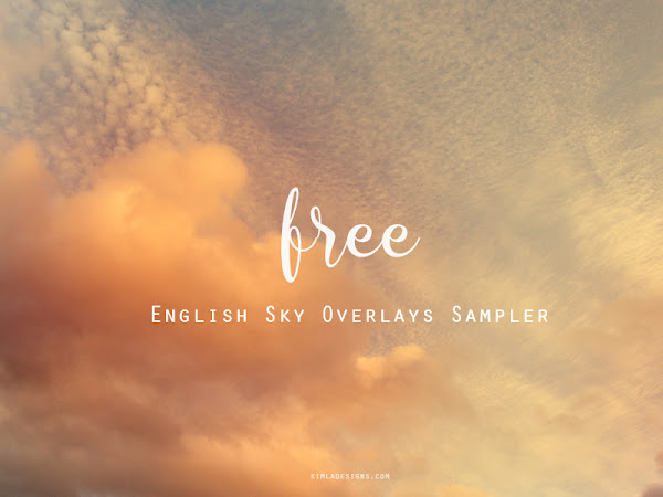 {Freebie} English Sky Photo Overlays Sampler Pack