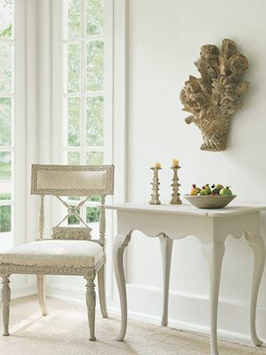 Shannon Bowers Swedish antique chair and table
