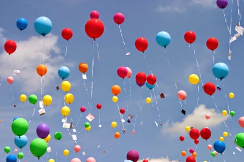 Gambar balon gas terbang untuk anak