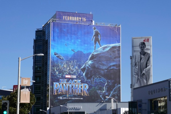 Giant Black Panther movie billboard