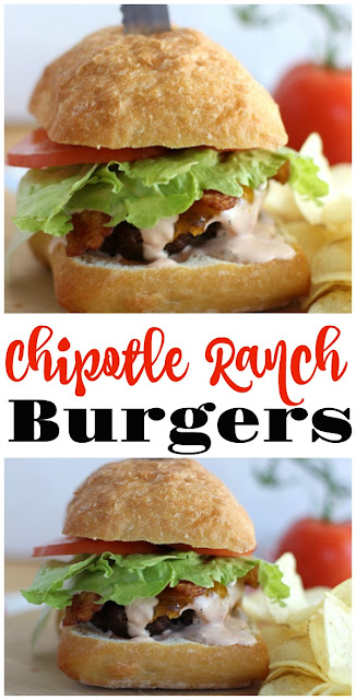 Chipotle Ranch Burgers from Kickin' Up Smoke