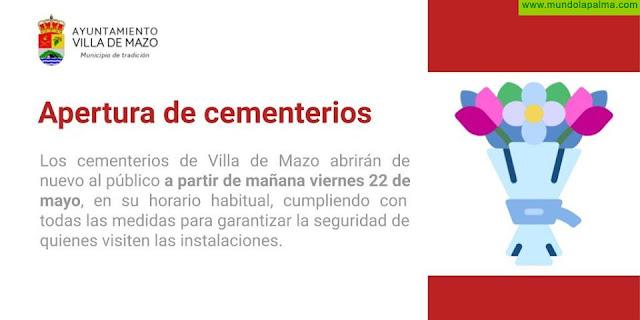 Mazo reabre mañana los cementerios municipales