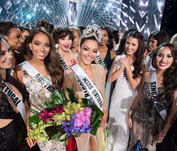 Demi-Leigh Nel-Peters of South Africa is the reigning Miss Universe.