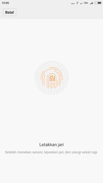 Cara Menggunakan Sensor Sidik Jari ( Fingerprint) XIAOMI REDMI 1, 2, 3, NOTE 1, 2, 3, MI 1, 2, 3, 4, 5