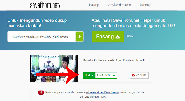 how to download mp3 from youtube on savefrom net