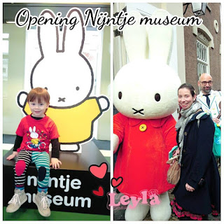 toddler with miffy and mother with miffy mascotte