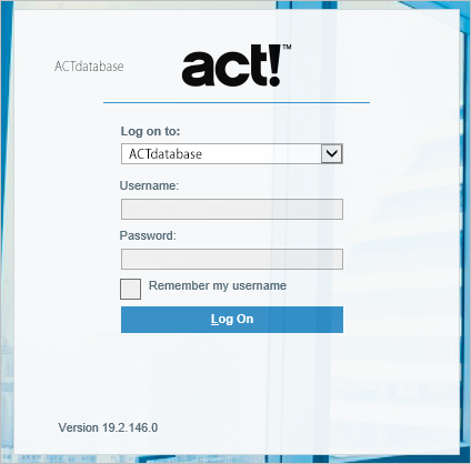 Memory Sieve: Can't type username in ACT Premium Web login (greyed out)