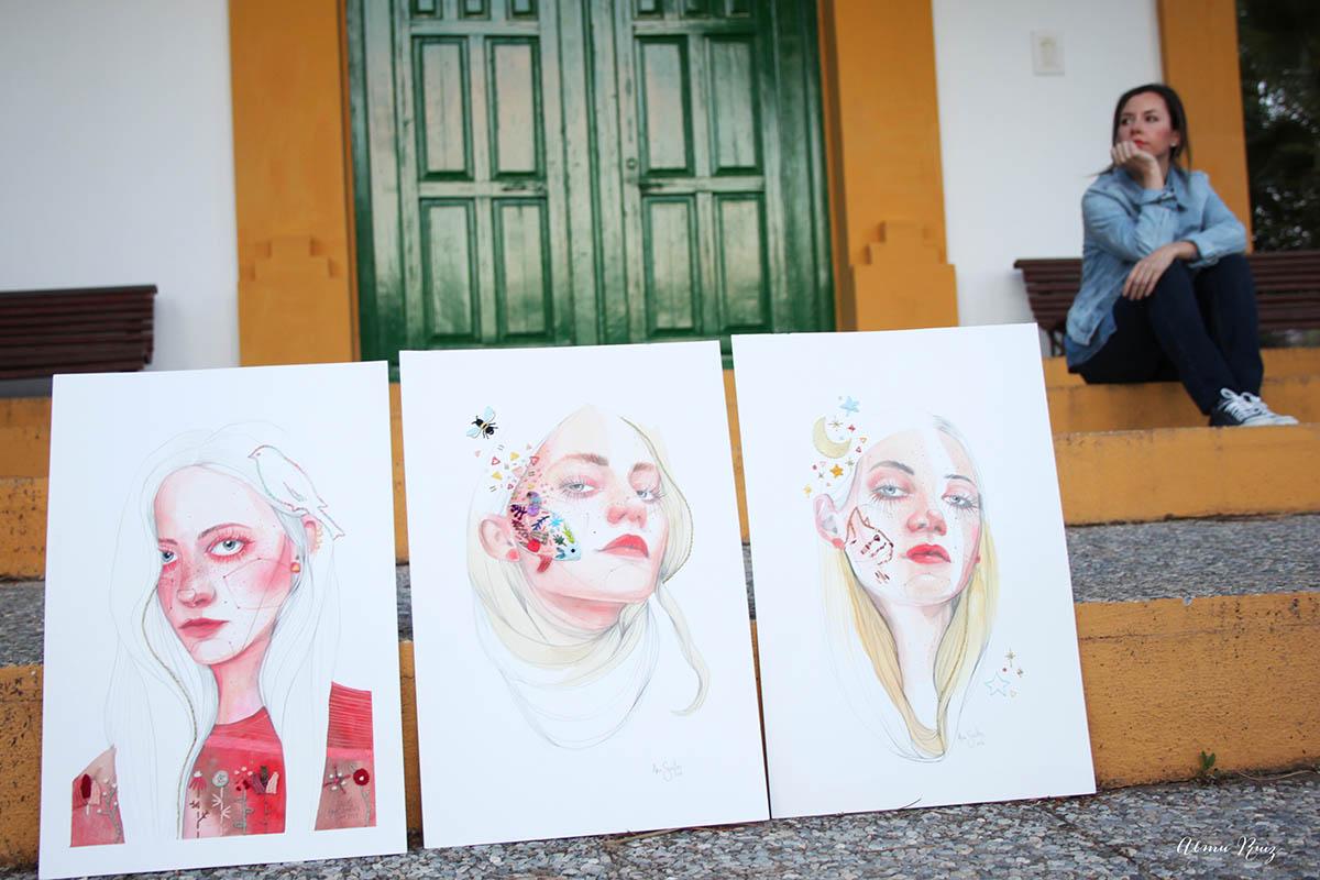 Serie de ilustraciones bordadas creadas por Ana Santos y Almu Ruiz