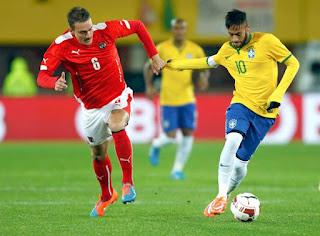 Horário do jogo para o amistoso da seleção entre Brasil e Áustria - 10/06/2018