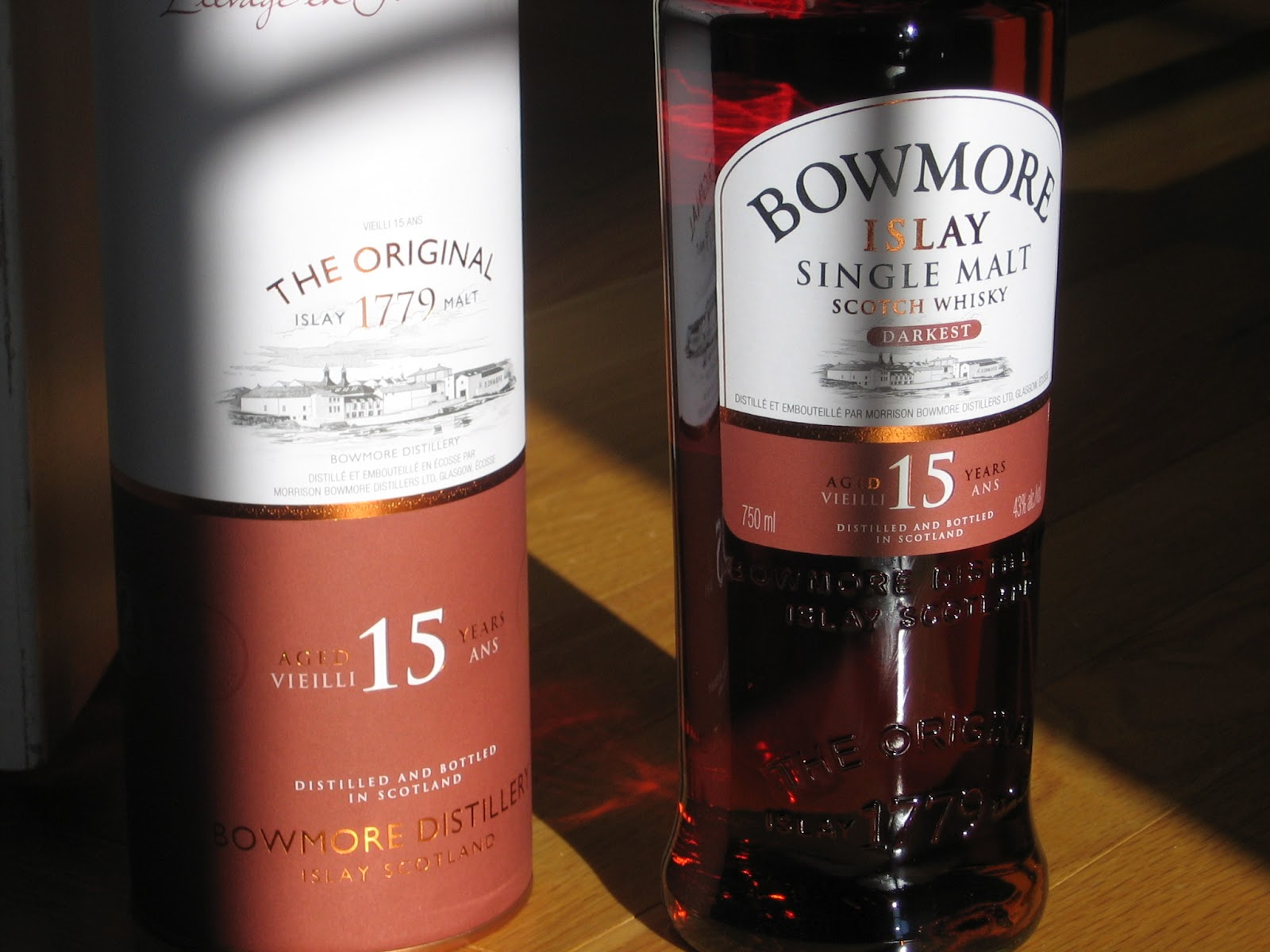jason 39 s scotch whisky reviews review bowmore 15 year old. Black Bedroom Furniture Sets. Home Design Ideas