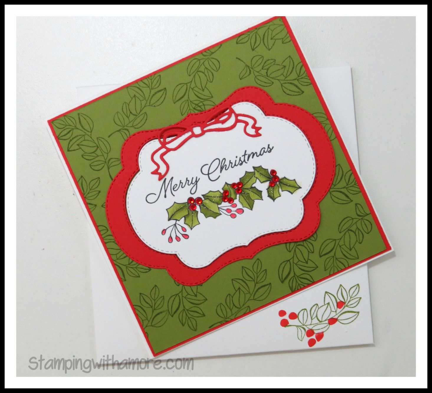 Stampingwithamore Christmas In July Blended Seasons Holly Card