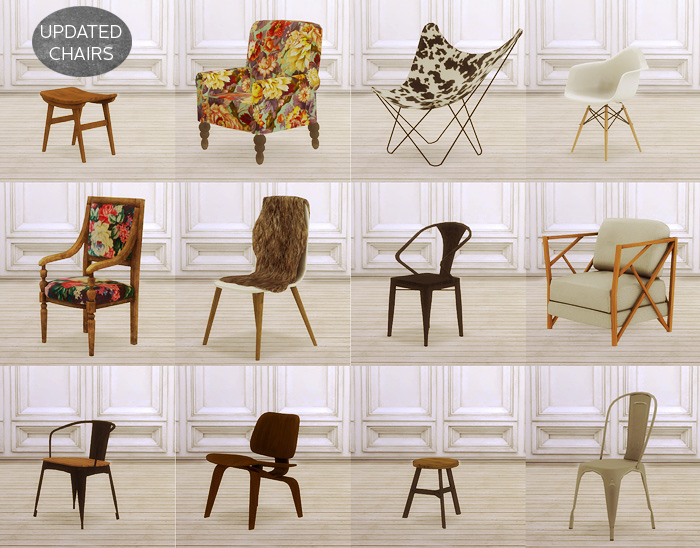 Updated Chairs Mio Sims