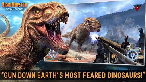 تحميل لعبة Dino Hunter: Deadly Shores مهكرة للاندرويد اخر اصدار