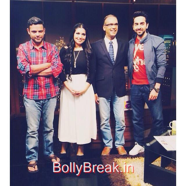 new. promotions at etc bollywood business. 😍💕 @ayushmannk, Hot HD Pics Of Bhumi Pednekar At 'Dum Laga Ke Haisha' Promotions at Radio Mirchi