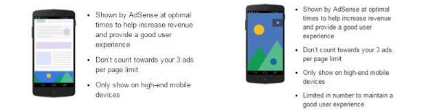 Anchor/overlay ads dan Vignette ads