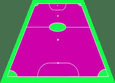 gambar ukuran lapangan futsal