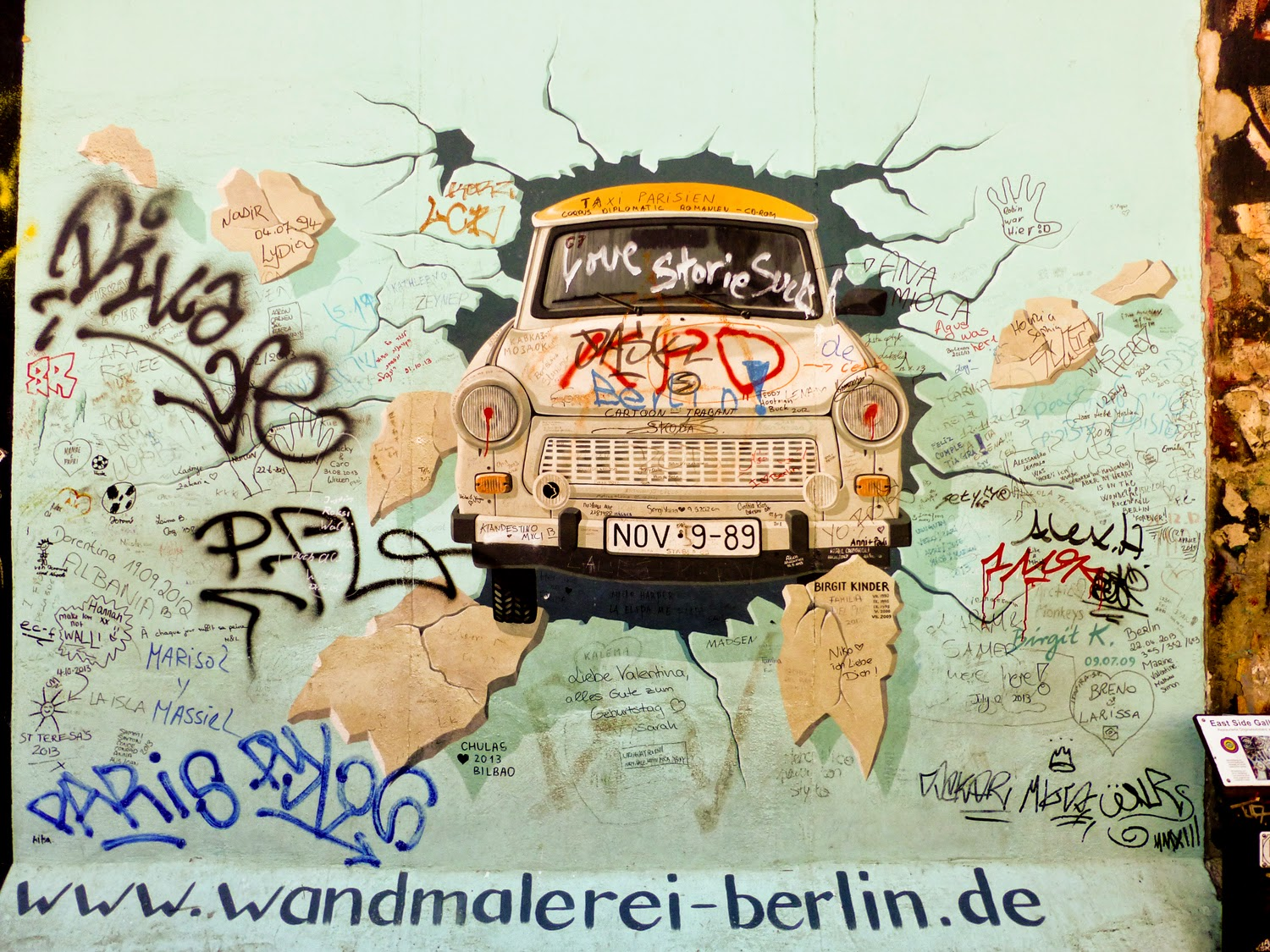Trabi en East Side Gallery