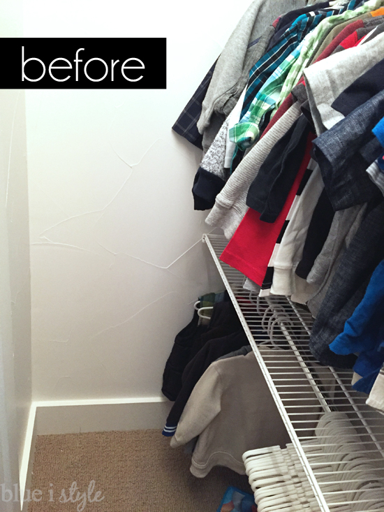 Unused corner of a closet can be functional