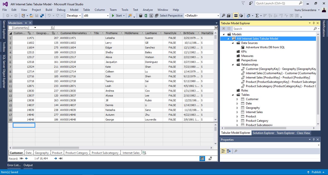 Axiom design a tabular bi semantic model 1 for Tabular table