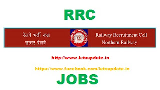 Recruitment of Apprentice in Railway Recruitment Cell (RRC), Northern Railway for 1092 vaccancies, letsupdate, freejobalerts for jobs in rrc,