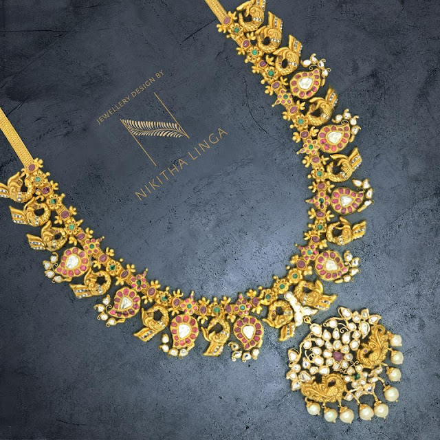 Latest Mango Necklaces by Nikitha Linga